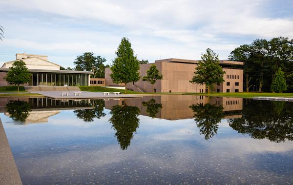 View of the Clark's Fernadez Terrace as seen from the Tadao Ando Reflecting Pool