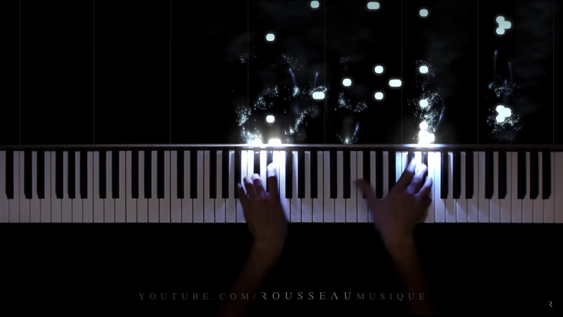 YouTube user Rousseau plays LED piano