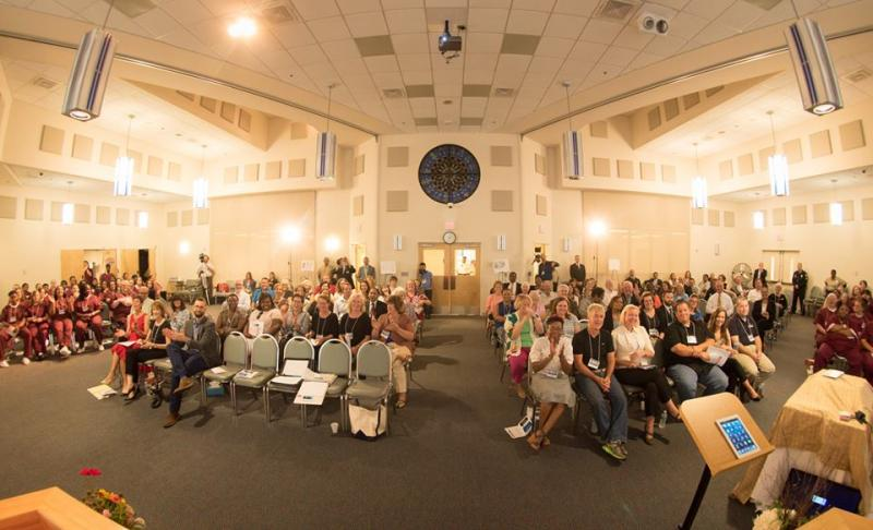 Photographer Joe del Tufo snapped a photo of the TEDx audience at the end of his talk.