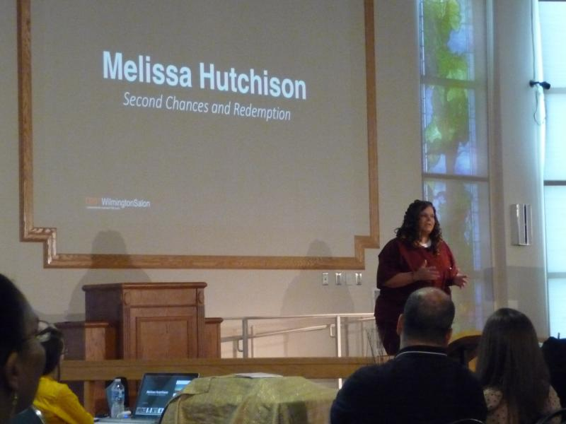 Melissa Hutchison remembers a series of suicide attempts during her TEDx talk in the Baylor chapel.