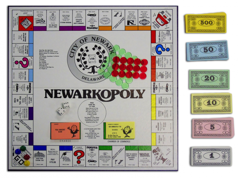 Middletownopoly is another Delaware-themed version of monopoly. These games are rare today.