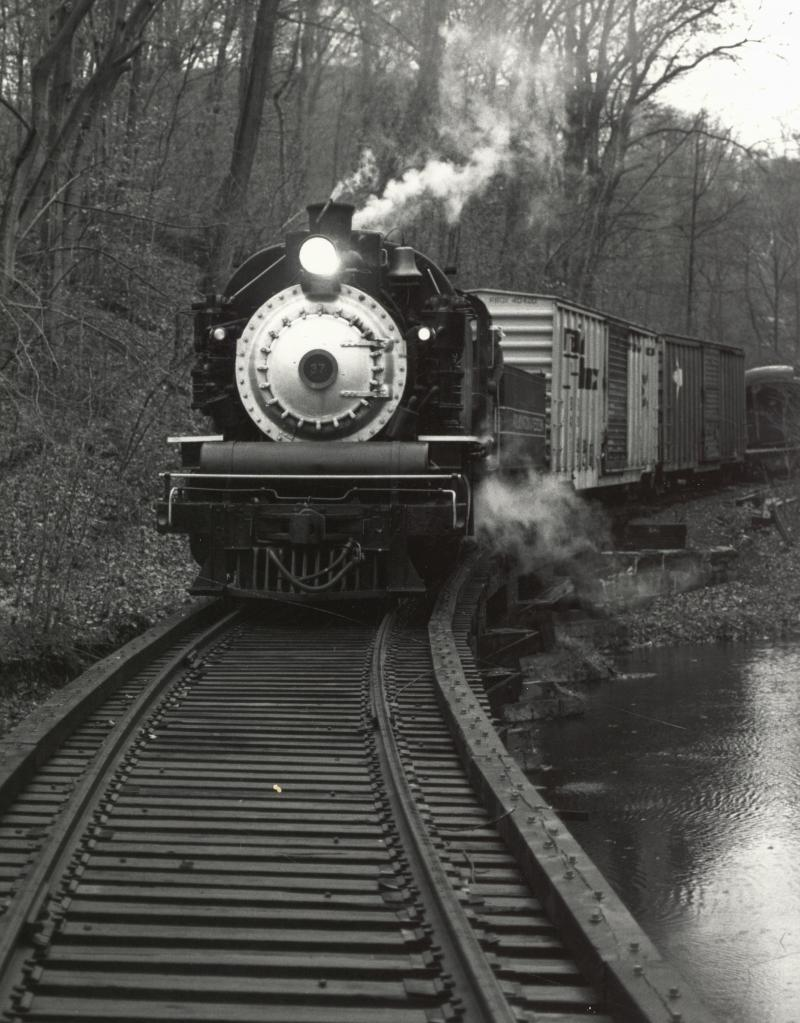 The Wilmington & Western Railroad at Mt. Cuba in the late 19th century.