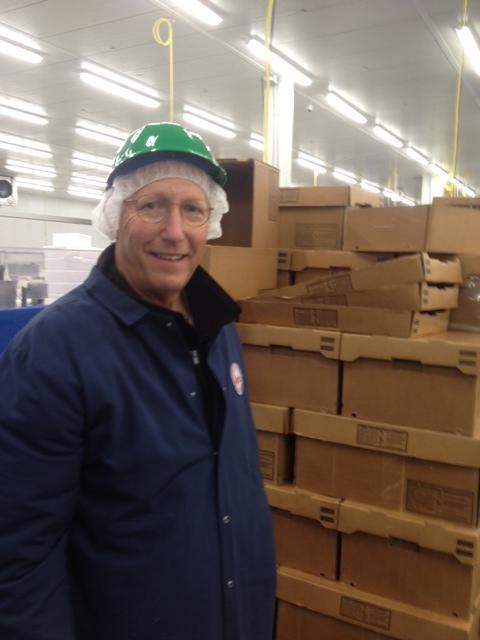 Tim Sughrue on the floor at Congressional Seafood