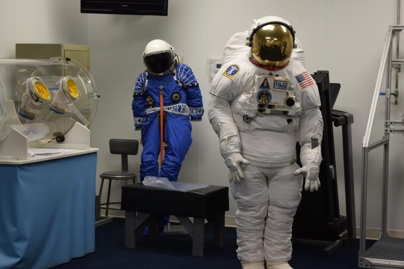 A spacesuit created by ILC Dover. The new Z-2 suits are being tested by NASA.