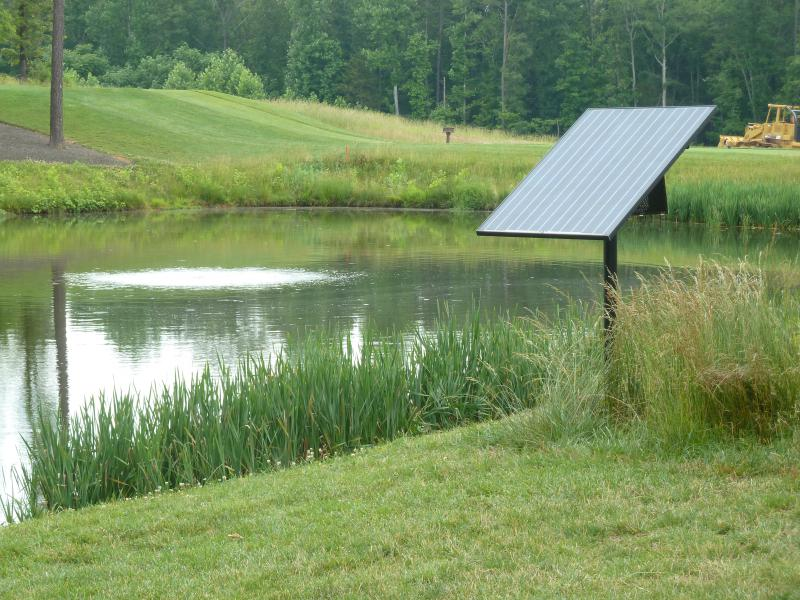 Newark startup improves pond water quality with solar for Pond water system