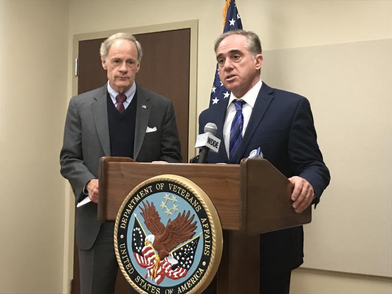 U.S. Secretary of Veterans Affairs David Shulkin met with First State veterans Monday.