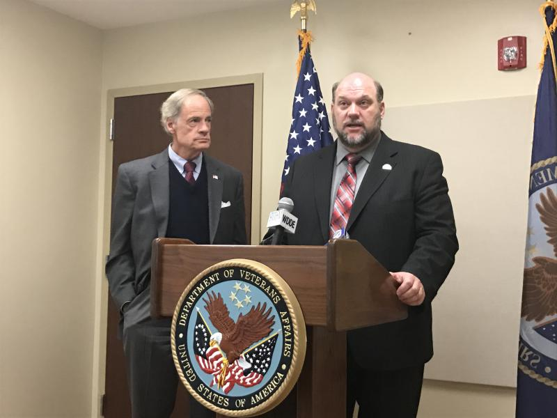 Wilmington VA Center Acting Director Bob Callahan addressed efforts to decrease wait times for veterans seeking healthcare.