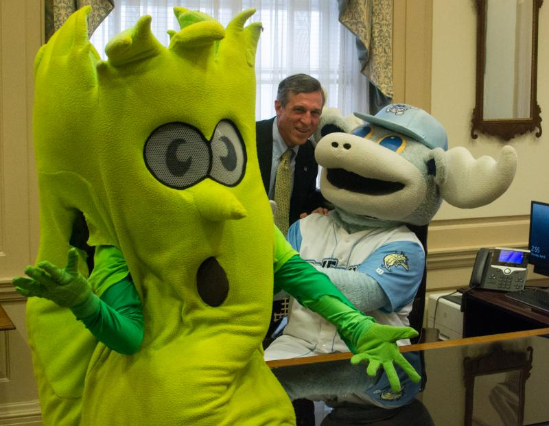 The Blue Rocks 25th Anniversary season has already included a visit to Gov. Carney's office