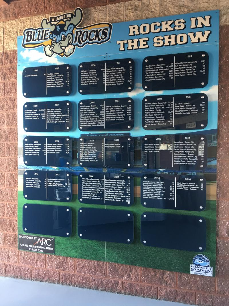 The Blue Rocks have sent a long list of players to the majors
