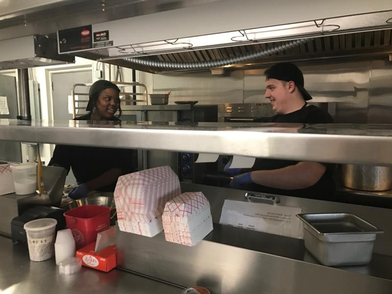 William Penn's Jadaya Hayden (left) wants to run a restaurant franchise someday.