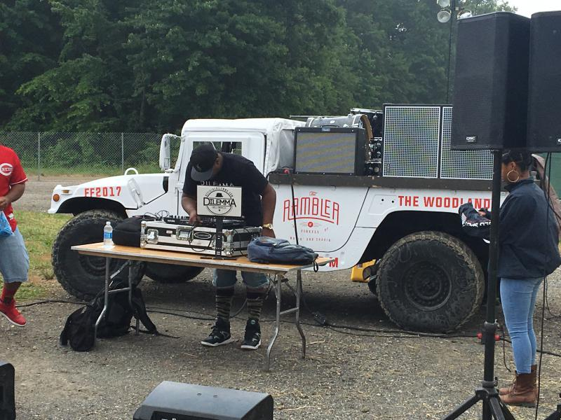 The Rambler stage is a mobile stage designed to create pop-up concert in the Firefly campground area