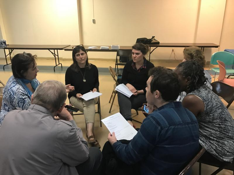 """Community members discuss strategies to make """"safe community"""" designations for the First State and its cities, counties and schools."""