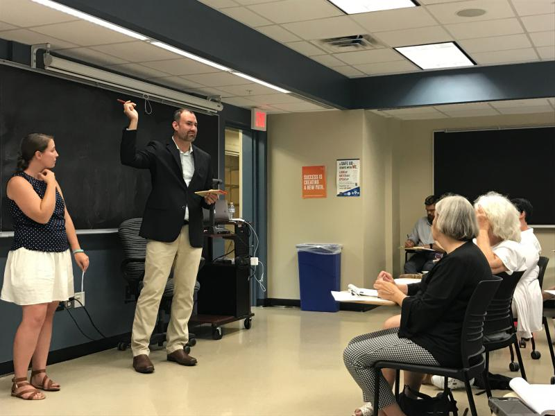 Michael Emmons, a UD PhD student in historic preservation, recently called a public meeting to discuss how to prevent demolition of historic structures in the First State.