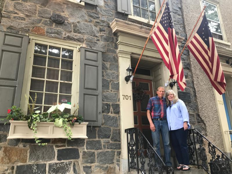Jan and David Almquist own the historic Woodward House, and rent it out on airbnb.