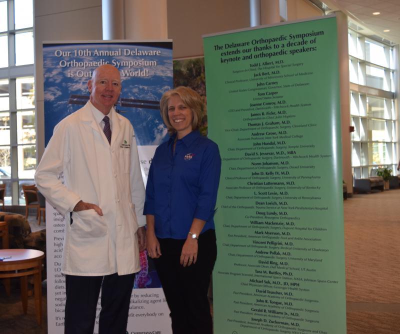 Christiana Care's Brian Galinat and NASA's Tara Ruttley