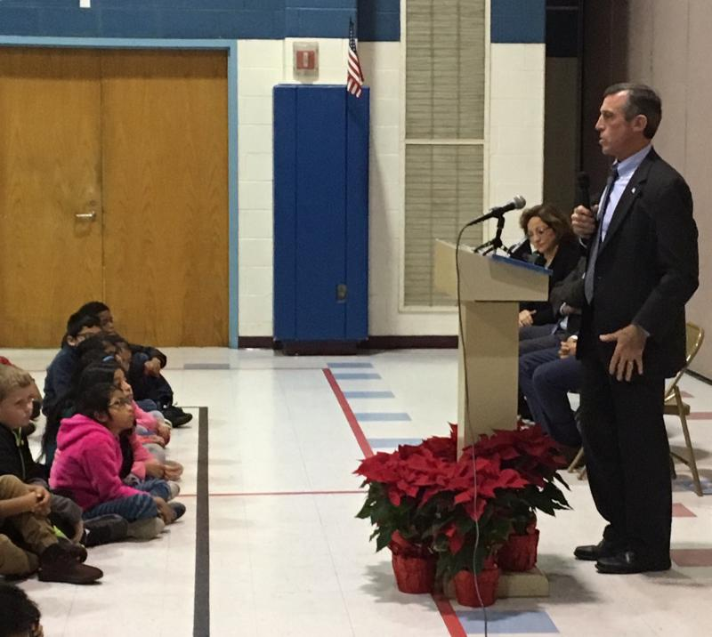 Gov. Carney speaks to kids at North Georgetown Elementary