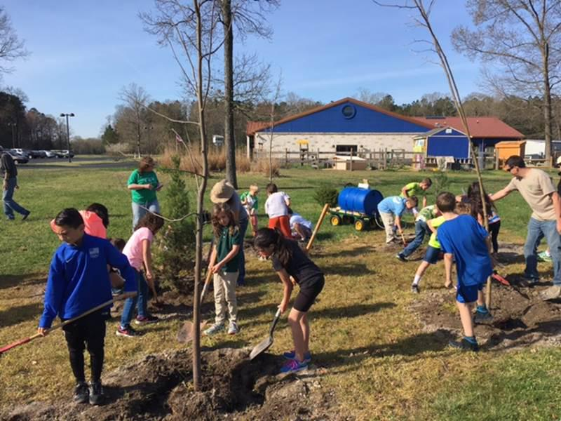 This tree planting project at the Jefferson School in Georgetown was funded by the Delaware Urban and Community Forestry Program. The 2018 grant program is now accepting applications.
