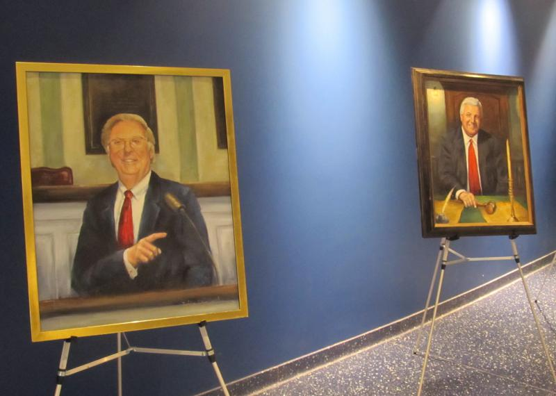 Raymonds works of art include a number of portraits that hang at Leglislative Hall