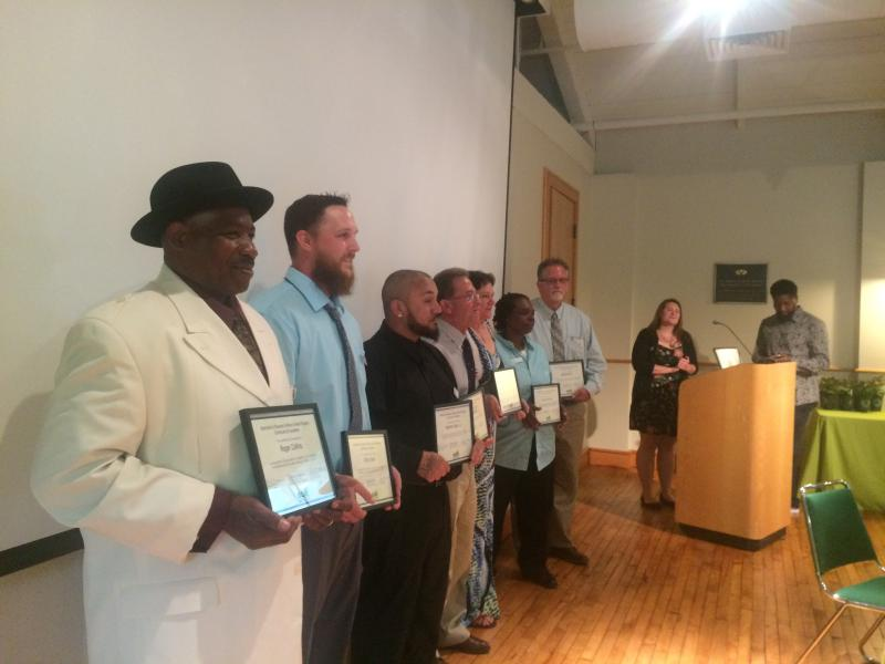 Graduates of the Branches to Chances job training program at the Delaware Center for Horticulture