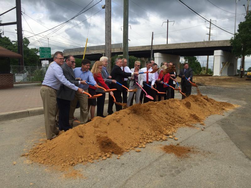 State & city officials break ground at the Newark Regional Transportation Center