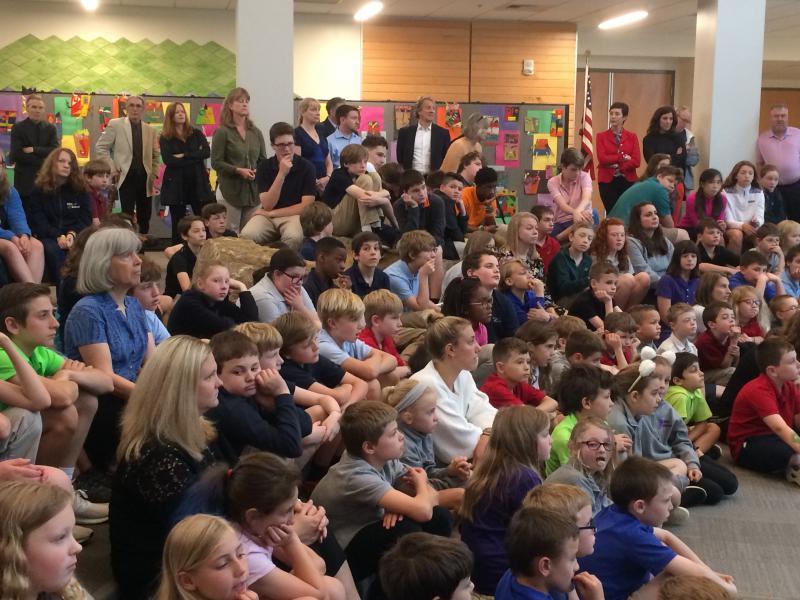 Pilot School students listen to Sydney Picasso's talk