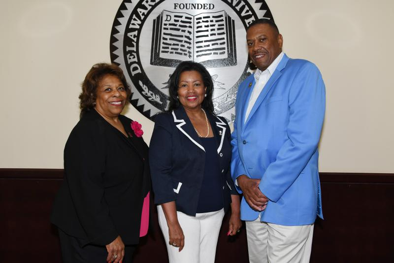 Dr. Wilma Mishoe, Dr. Devona Williams and John Ridgeway. (pictured l-r)