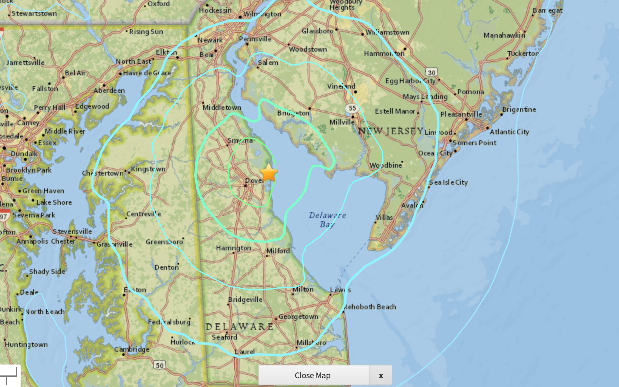 Magnitude 4.4 natural disaster  near Dover, Del. rattles Mid-Atlantic
