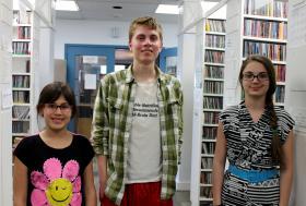 Left to right: Hannah Kurczeski, Lucas Crampton, Olivia Sica