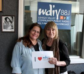WDIY's Alison DelRe (left) with Gail Davies (right)
