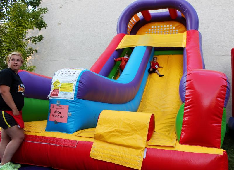 Kids could enjoy a moonbounce and a giant inflatable slide.