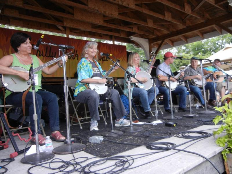 Banjoists Jane Rothfield, Cathy Fink, Marcy Marxer, Michael Beaky,  Mark Schultz / Tank Stage