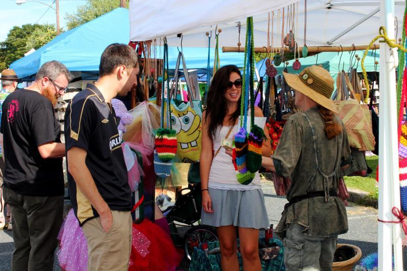 Clothing vendors.