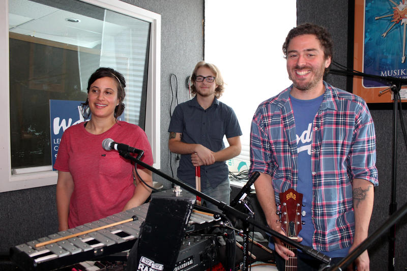 VoirVoir in the WDIY studios | Left to right: April Smith, Josh Maskornick, Matt Molchany