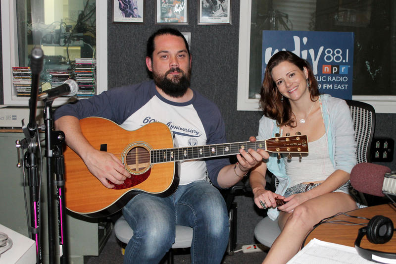 Zepplehem live in-studio at WDIY | Chris McDermott (left) and Jessica Marcantoni (right)