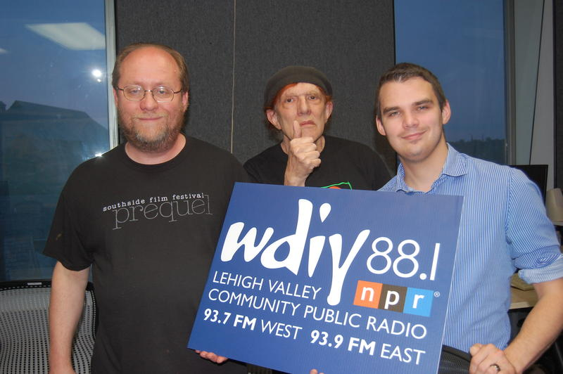 From left, Jeff Vaclavik, SSFF Board President; Maxx Fox; WDIY on-air host and program engineer, and Glenn Koehler, Director, SSFF.