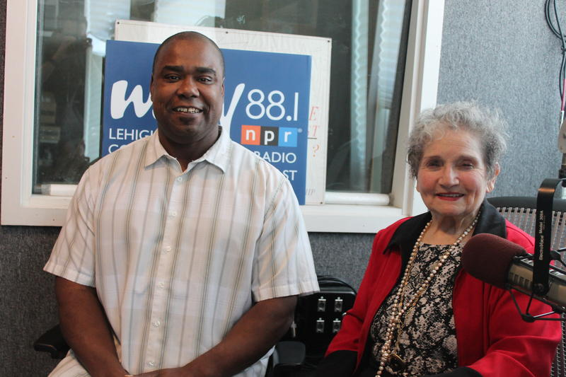 Left to right:  Phillip Chaney, Eleanor Bobrow