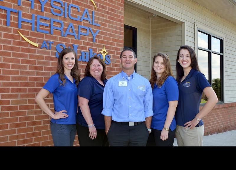 Lauren Xiques (far right) with the her colleagues at the St. Luke's Physical Therapy Easton-Palmer Township location.