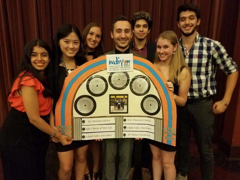 The students of the 2017 PSGE program present their final project on WDIY at the appreciation dinner.