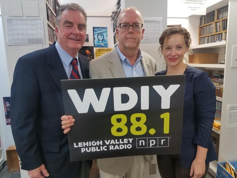 Left to right: Dean Donaher, host Alan Jennings, Amy Cozze