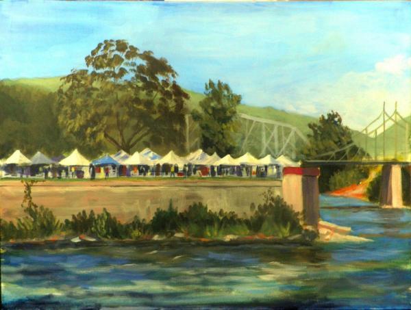 A plein air piece by Pat Burton.