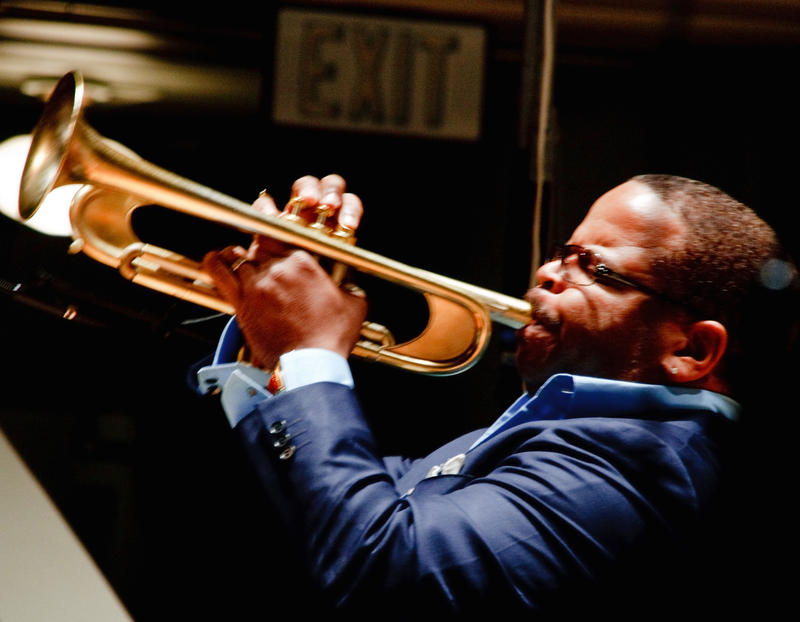 Terence Blanchard at UVA's Old Cabell Hall in March.
