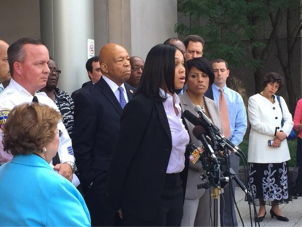 State's Attorney Marilyn Mosby announcing BFED earlier this month.