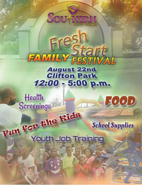 Fresh Start Family Festival, sponsored by the Southern Baptist Church