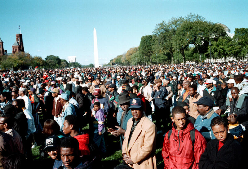 The first Million Man March, Washington DC, 1995.
