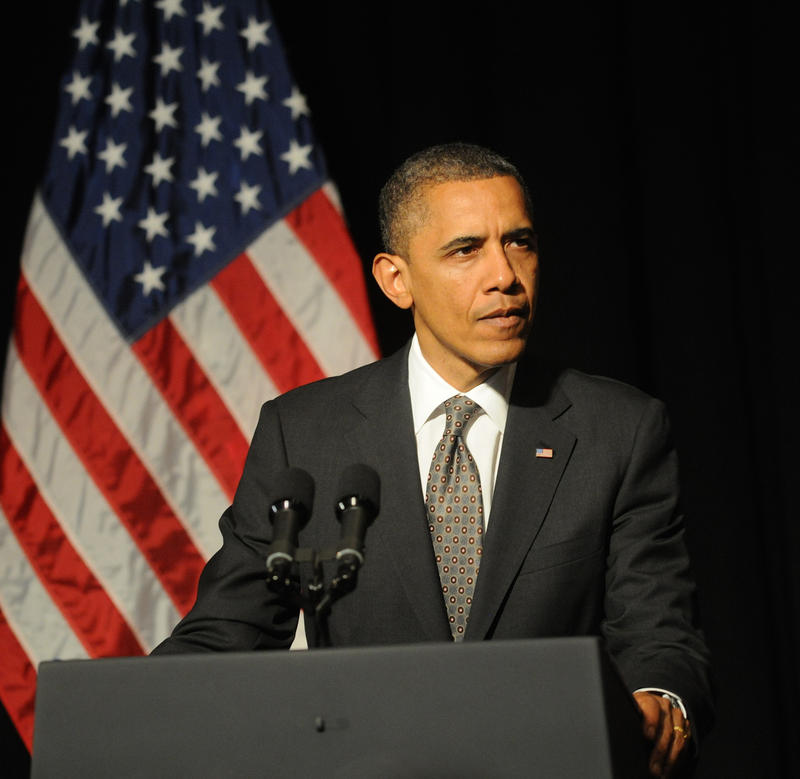 Obama speaking in April 2012.