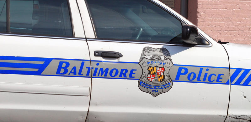 Baltimore City police car. 2012.