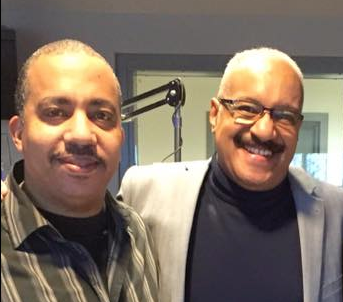 Dawoud Said with Baltimore Blend host Robert Shahid in the WEAA studios.