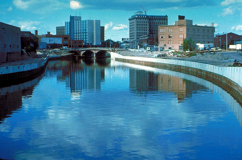 Flint River in Flint MIchigan, 1979.