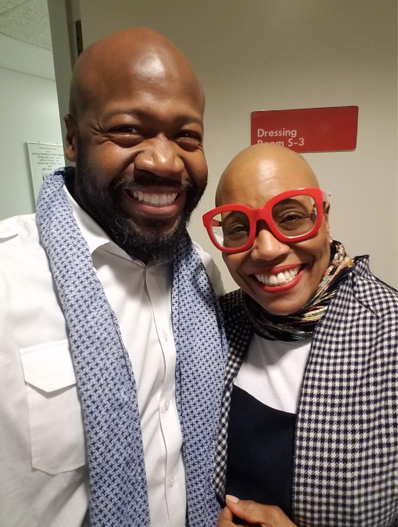Marcellus Shepard with vocalist Dee Dee Bridgewater.