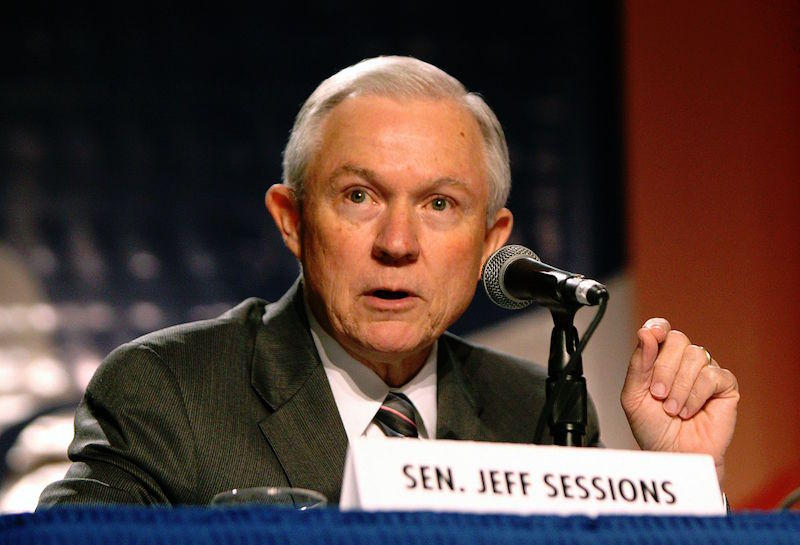 Jeff Sessions speaking at the Values Voter Summit in Washington, D.C.